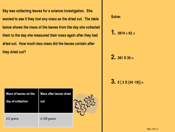 5th grade Texas math TEKS review and spiral - 2nd 6 weeks