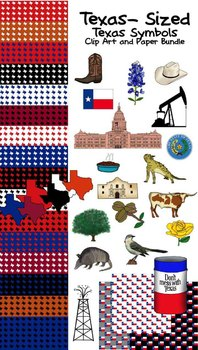 Texas-sized Texas Symbols Clip Art Bundle (60 pieces!!)