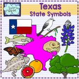 Texas state symbols clipart