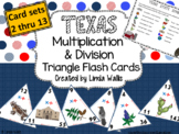 Texas-themed Multiplication & Division Triangle Flash Cards