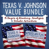Texas v. Johnson Value Bundle: 75 Pgs of Reading, Analysis & Debate Activities