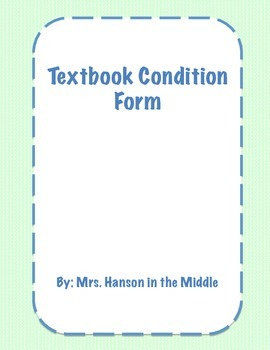 Texbook Condition Form