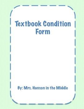 Texbook Condition Form