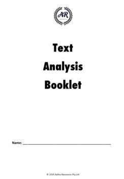 Text Analysis Booklet