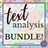 Literary Analysis Close Reading Activities + Paragraph Writing