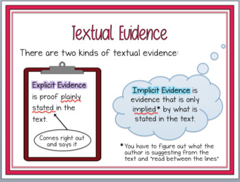 Text Analysis & Evidence Lesson w/ guided notes