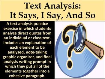 FREE Text Analysis Practice Exercise