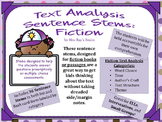 Fiction Sentence Stems for Text Analysis
