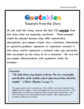 Text Analysis: Quotables
