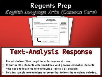 Text-Analysis Response Scaffold / Template (NYS ELA Common