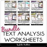 Text Analysis Worksheets/Graphic Organizers BUNDLE, Digita