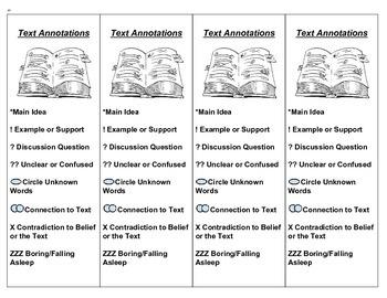 Text Annotation Bookmark