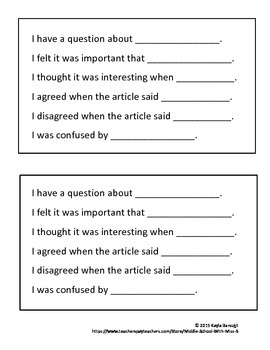 Text Annotation or Discussion Cards