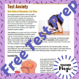 Text Anxiety Test Prep