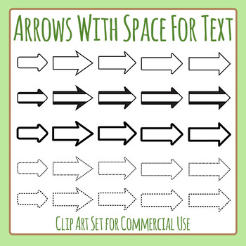 Text Arrows - Directional Arrows With Space for Writing Clip Art Commercial Use