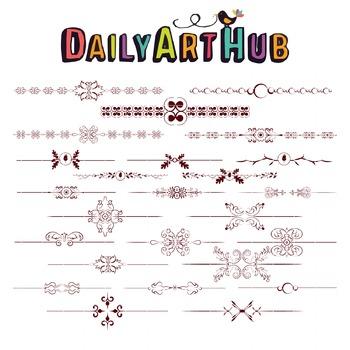 Text Art Divider Clip Art - Great for Art Class Projects!