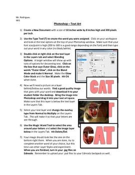 Text Art - Photoshop (Advertising Art Assignment 3)