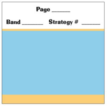 Text Band Planning Sticky Notes