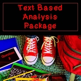 Text Based Analysis Package for the Common Core English Regents