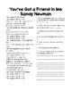 Text Based Comprehension and Grammar through Song Lyrics Printable!