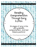Text Based Comprehension and Grammar through Song Lyrics Printable!