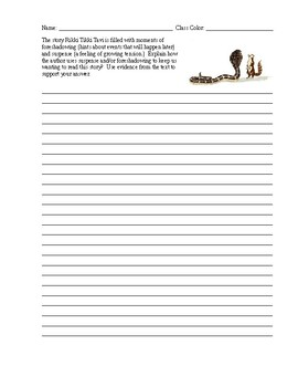 Text Based Essay Rikki Tikki Tavi
