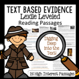 Text Based Evidence 26 Nonfiction Lexile Leveled Passages 3rd-4th