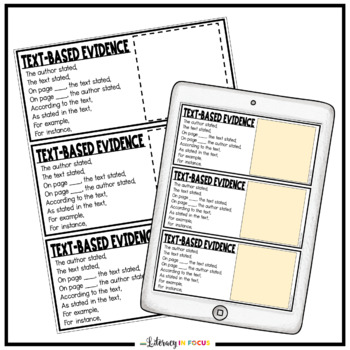 Text-Based Evidence Cards