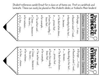 Text Based Evidence Poster Set - Burlap Theme