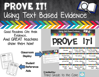 Text Based Evidence Poster Set - Chalkboard Theme