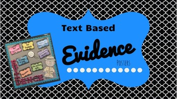 Text Based Evidence Posters (Common Core)