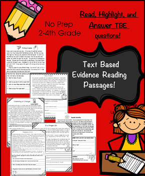 Non Fiction Reading: Text Based Evidence: Read, Highlight, and Answer!!!