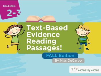 Text Based Evidence Reading Passages