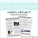 Text Based Evidence Reading Passages - Winter (With Distan