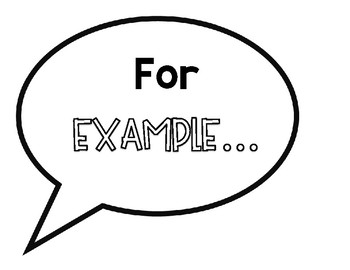 Text Based Evidence Speech Bubble Posters