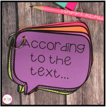 Text Based Evidence Writing Speech Bubbles