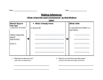Text Based Inferences for ELLs - Reference File