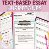 Text-Based Informational Essay Writing Prompt   Hurricanes *EDITABLE*