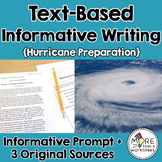 Text-Based Informative Writing Practice--Hurricane Preparation