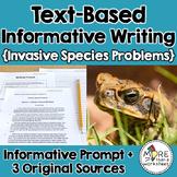 Text-Based Informative Writing Practice--Invasive Species