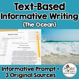 Text-Based Informative Writing Practice--The Importance of Oceans