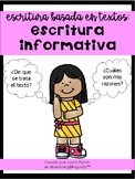 Text Based Informative Writing in Spanish