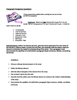 Text Based Multiple Choice and Writing - Romeo and Juliet