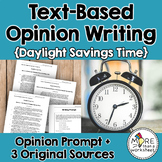 Text-Based Opinion Writing Practice (Permanent Daylight Savings Time)