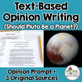 Text-Based Opinion Writing Practice (Should Pluto Be a Planet?)