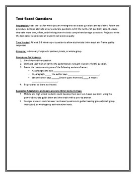 Text Based Questions Strategy