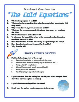 "Text-Based Questions for ""The Cold Equations"""