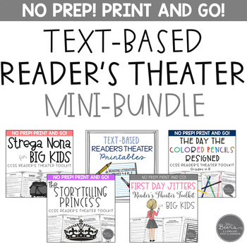 Text-Based Reader's Theater Mini-Bundle for Grades 4-8 Common Core Aligned