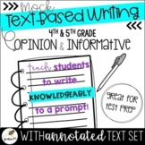 Text Based Writing (4th & 5th Grade - Informative & Opinion Essays)