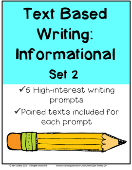 Text-Based Writing: Informational Set 2